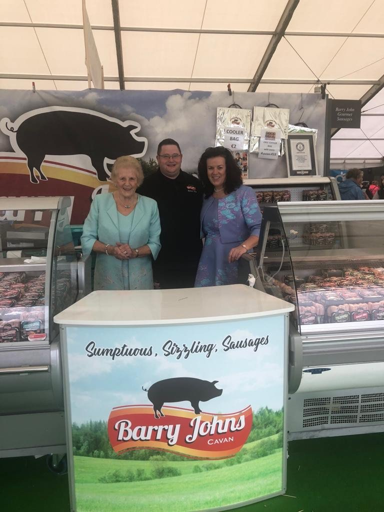 Ploughing Championship Queens visit Barry John Sausages Stand