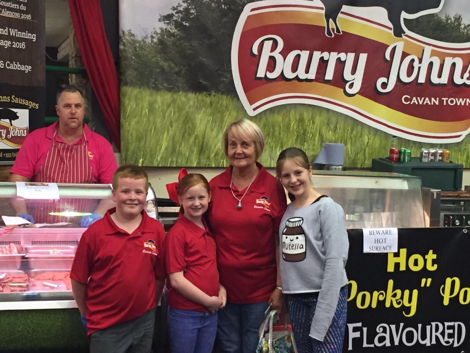 Barry John Sausages Taste of Cavan Stand