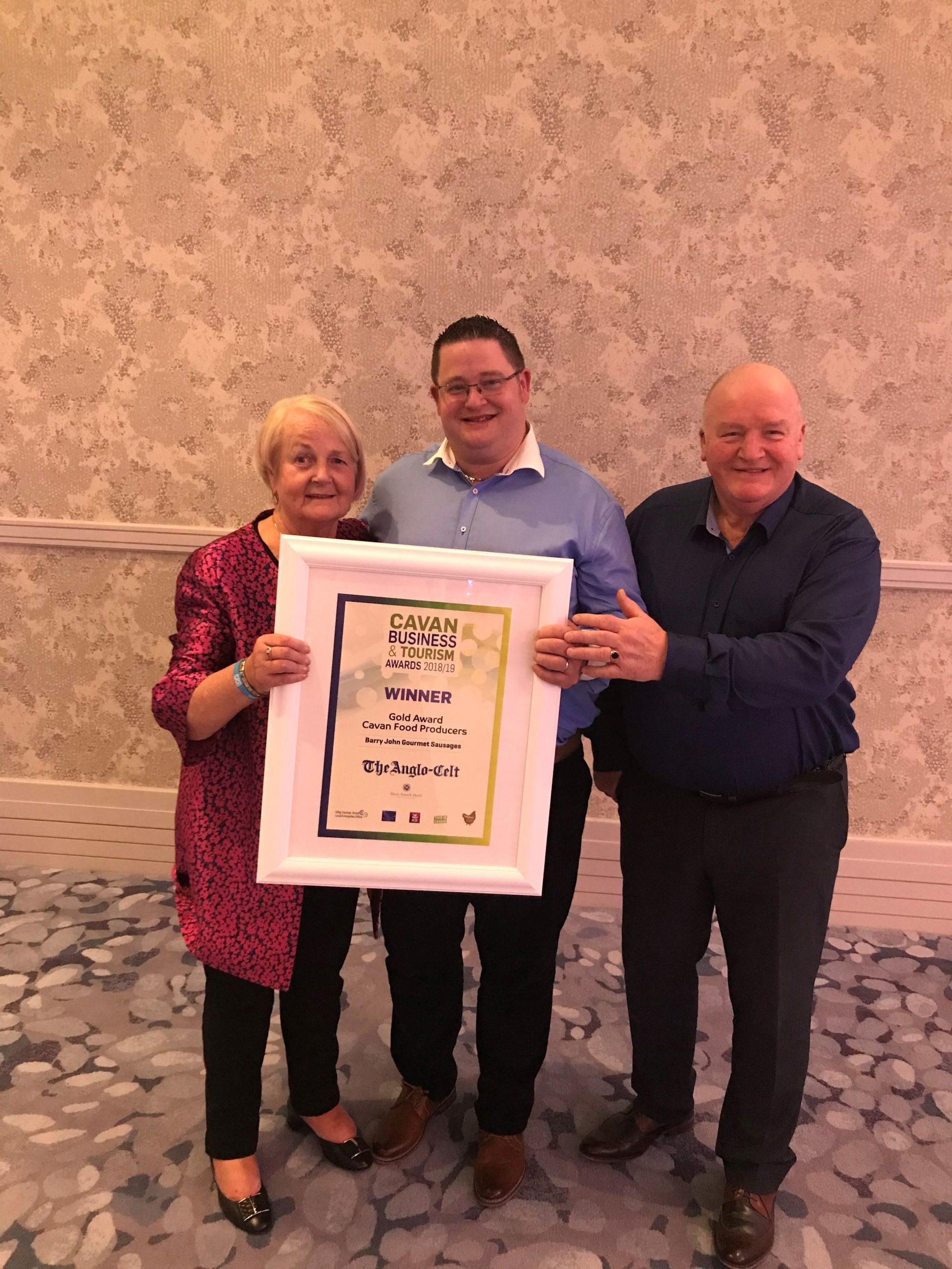 Cavan Business & Tourism Awards 2018/19 - Barry John Sausages